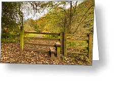Stile In Plessey Woods Greeting Card