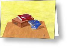 Still Life - Books Greeting Card by Bav Patel