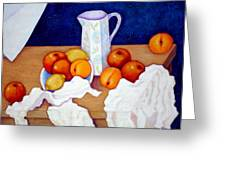Still Life In Honor Of Cezanne   Greeting Card
