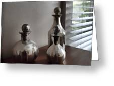 Still Life In Silver 2 Greeting Card