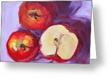 Still Life Kitchen Apple Painting Greeting Card