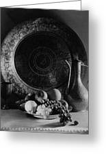 Still Life Of Armenian Plate And Other Greeting Card