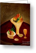 Still Life On A Red Table Greeting Card