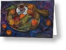 Still Life On A Tray Greeting Card by Juliya Zhukova