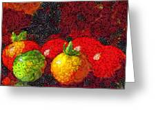 Still Life Tomatoes Fruits And Vegetables Greeting Card