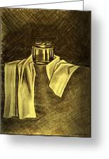 Still Life Vase And Fabric 1 Greeting Card