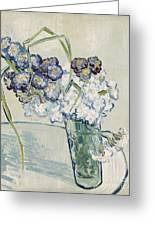 Still Life Vase Of Carnations Greeting Card by Vincent van Gogh