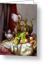 Still-life With A Glass Of Dutch Greeting Card