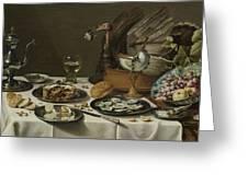 Still Life With A Turkey Pie Greeting Card