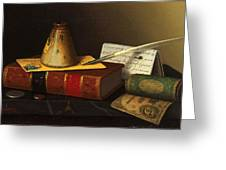 Still Life With A Writing Table Greeting Card