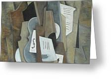 Still Life With Ace Of Spades Greeting Card