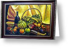 Still Life With Basket Greeting Card