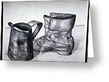 Still Life With Boot Greeting Card