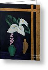 Still Life With Calla Lilies Greeting Card