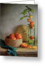 Still Life With Clementines Greeting Card