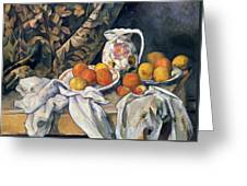 Still Life With Drapery Greeting Card