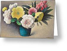 Still Life With Flowers Greeting Card