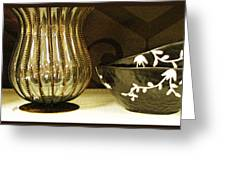 Still Life With Golden Vase Greeting Card
