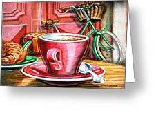 Still Life With Green Dutch Bike Greeting Card