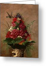 Still Life With Hummingbird Greeting Card