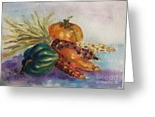 Still Life With Indian Corn Greeting Card
