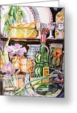 Still Life With Irises Greeting Card