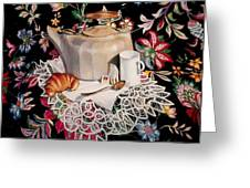 Still Life With Lace Greeting Card