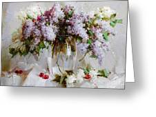 Still Life With Lilac Greeting Card