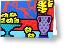 Still Life With Matisse Greeting Card by John  Nolan