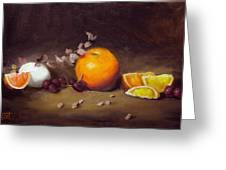 Still Life With Orange And Egg Greeting Card