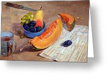 Still Life With Pumpkin Greeting Card