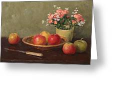 Still Life With Red Apples Greeting Card