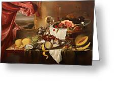 Still Life With View Greeting Card