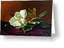 Still Life With White Flower Greeting Card