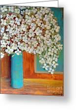 Still Life With White Flowers Greeting Card
