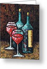 Still Life With Wine Greeting Card
