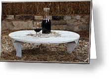 Still Life With Wine Slv1 Greeting Card