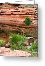 Still Waters At Slide Rock Greeting Card