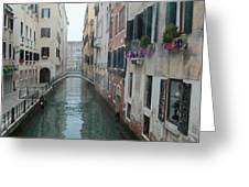 Still Waters In Venice Italy Greeting Card