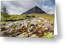 Stob Dearg Mountain Greeting Card