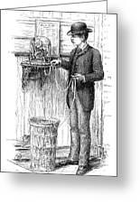Stock Ticker, 1885 Greeting Card