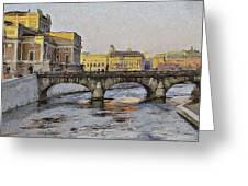 Stockholm 4 Greeting Card by Yury Malkov
