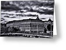 Stockholm Bw V Greeting Card