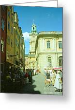 Stockholm City Tower Square Greeting Card