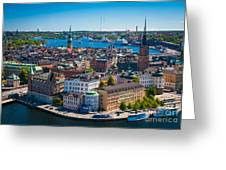 Stockholm From Above Greeting Card