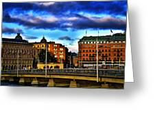 Stockholm In Color Greeting Card