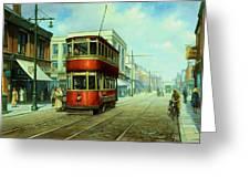 Stockport Tram. Greeting Card