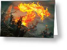 Stoke The Flames Greeting Card