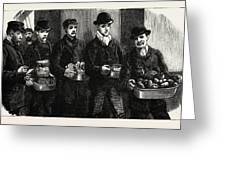 Stokers For The British Navy, Newly Joined Men Drawing Greeting Card