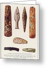 Stone Age Artifacts From Norway - Tools Greeting Card